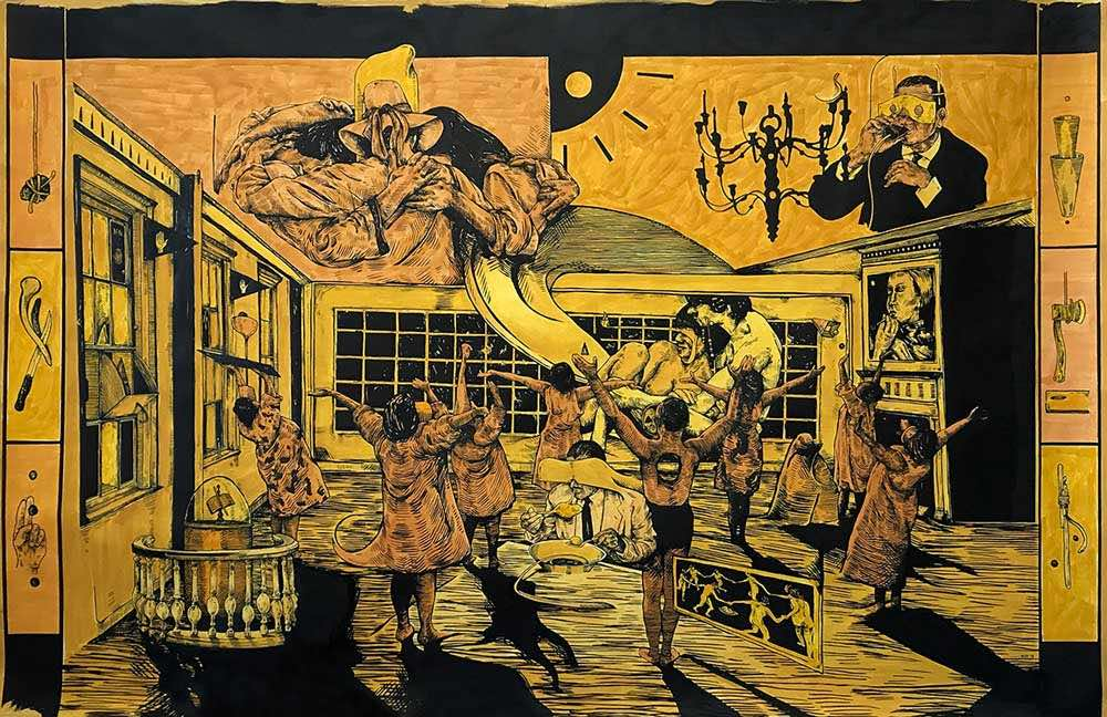 blackqube magazine featuring william buchina at hollis taggart gallery